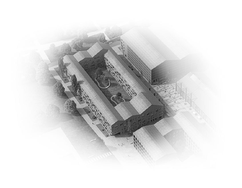 Visualisierung Quartier Cube Factory 577, studentisches Wohnen, Apertments für Studierende, Young Professionals und Wohngemeinschaften