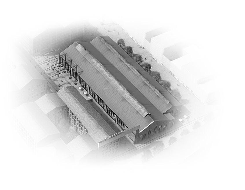 Visualisierung Quartier Cube Factory 577, neue Bahnstadt Opladen, Gastronomie, gastronomisches Angebot, Sportflächen, Fitnessstudio, Sportstudio